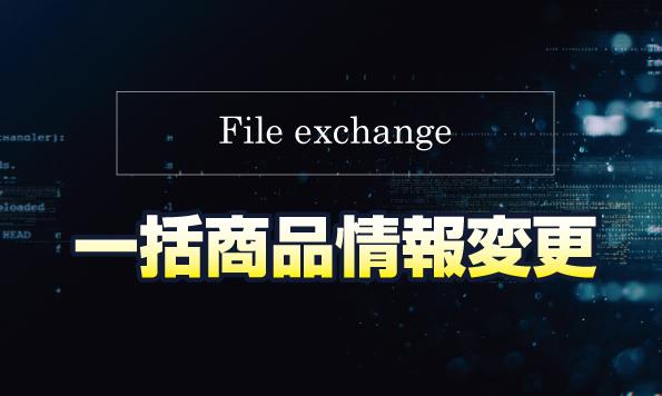 eBay無在庫出品ツールFile exchangeの使い方!出品中商品情報を一括で変更する方法
